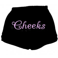 cheeks-fitness shorts black shorts with elastic waistband