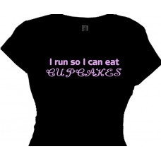 """I Run So I Can Eat Cupcakes - Funny Running Quotes"""