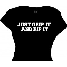 Just GRIP IT and RIP IT! - Women's Funny Fitness Shirt