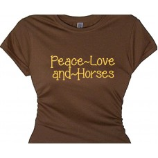 Peace Love and Horses T Shirt for Horse Lovers