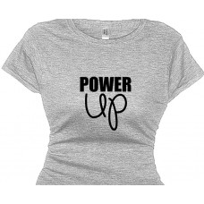 Power Up Ladies Fitness Tee Shirt