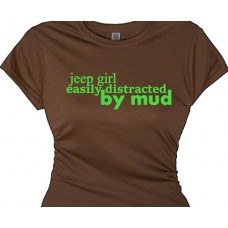 """Easily Distracted By Mud "" Off Road Biking Shirt"