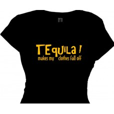 Tequila Makes My Clothes Fall Off Girls Summer T-Shirt