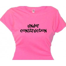 Under Construction - Girls Fitness Tee Shirt
