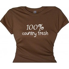 100% country fresh - Girls country gals quote tee shirt