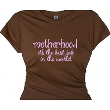 Mom T Shirt - Motherhood the best job in the world