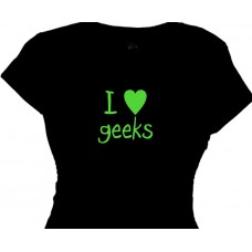 I love geeks- geek love t-shirt