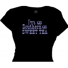 I'm as southern as sweet tea - girls t shirt for country gals