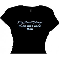 My Heart Belongs To An Air Force Guy - T Shirt For Girls And Women
