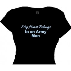 My Heart Belongs To An Army Man - T-shirt For Girls