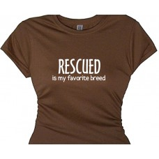 rescued is my favorite breed - dog lover t shirt