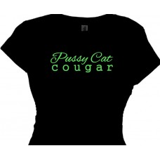 Pussy Cat Cougar Cougar Tee Shirts
