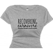 Recovering Carnivore Women's Vegetarian Vegan T-Shirt