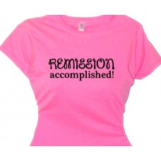 Remission Accomplished - Breast Cancer Walk Tee Shirt