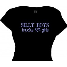silly boys trucks R4 girls - girls off roading t shirt