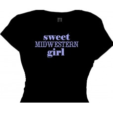 Sweet Midwestern Girl Ladies Country Gals Tee