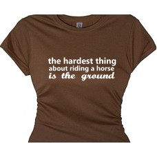 the hardest thing about riding a horse is the ground