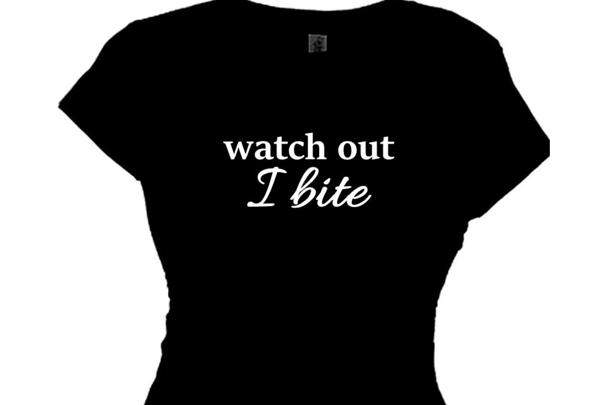 Out I Bite - Women's Bar Halloween Shirt
