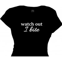 Watch Out I Bite - Women's Bar Halloween Shirt