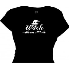 Warning WITCH with an attitude Halloween Costume Bitch Shirt